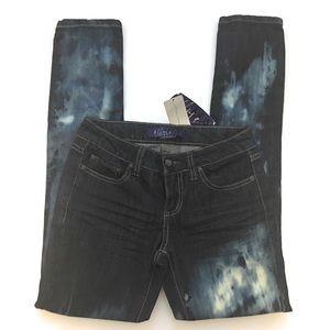Miley Cyrus skinny jean, Sz 5, Snagz custom